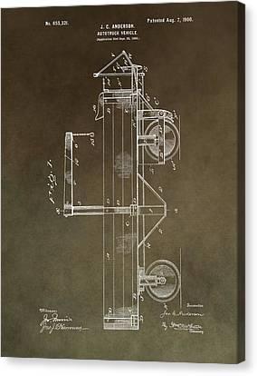 1900 Truck Patent Canvas Print
