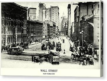1900 Wall Street New York City Canvas Print