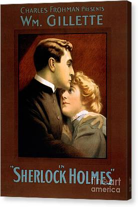 1900s Uk Sherlock Holmes Poster Canvas Print by The Advertising Archives