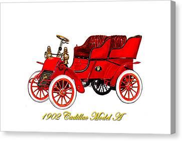 Reform Canvas Print - 1902 Cadillac Model A Runabout by Jack Pumphrey