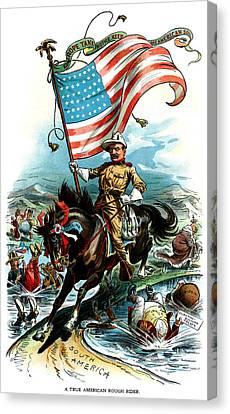 1902 Rough Rider Teddy Roosevelt Canvas Print