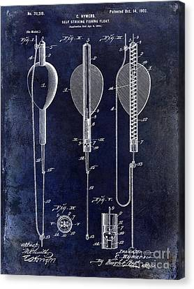 1902 Self Strike Fish Float Patent Canvas Print