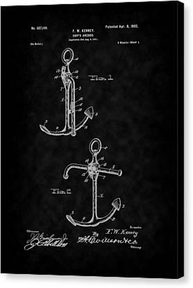 1902 Ship's Anchor Patent Art-bk Canvas Print