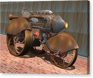 1902 Steam Trike Canvas Print by Stuart Swartz