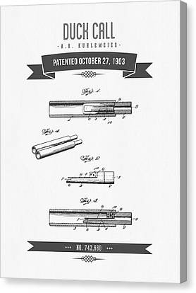 1903  Duck Call Patent Drawing Canvas Print by Aged Pixel