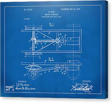 Innovator Canvas Print - 1903 Henry Ford Model T Patent Blueprint by Nikki Marie Smith