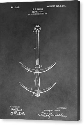 1903 Ship's Anchor Canvas Print by Dan Sproul
