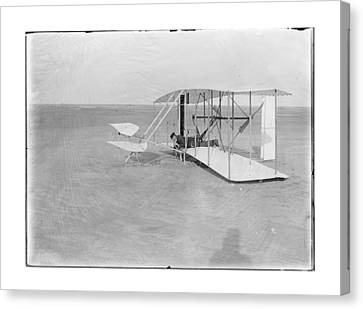 1903 Unsuccessful Flight By Wilbur Wright Canvas Print
