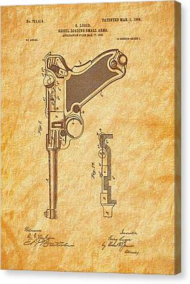 1904 Luger Patent Art-textured Canvas Print