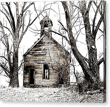 Canvas Print featuring the photograph 1904 School House Memory by Sonya Lang