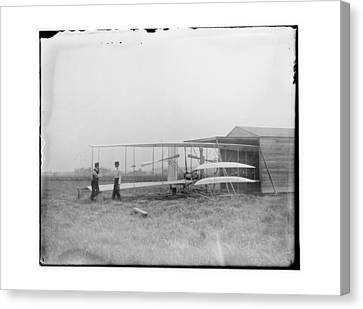1904 Wilbur And Orville Wright Canvas Print by MMG Archives