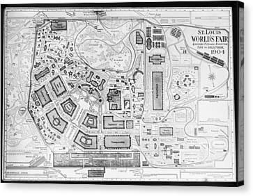 1904 Worlds Fair Fair Grounds Map Canvas Print
