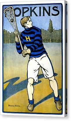1905 - Johns Hopkins University Lacrosse Poster - Color Canvas Print