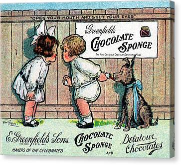 1905 Chocolate Candy Ad Canvas Print