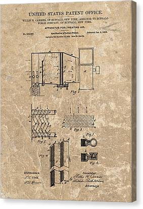 1906 Air Conditioner Patent Canvas Print by Dan Sproul