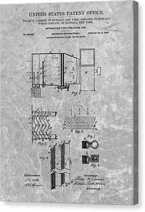 1906 Air Conditioning Unit Patent Canvas Print