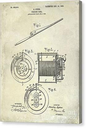 1906 Fishing Reel Patent Canvas Print