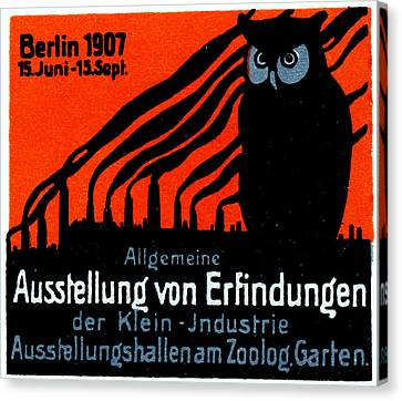 1907 Berlin Exposition Poster Canvas Print by Historic Image