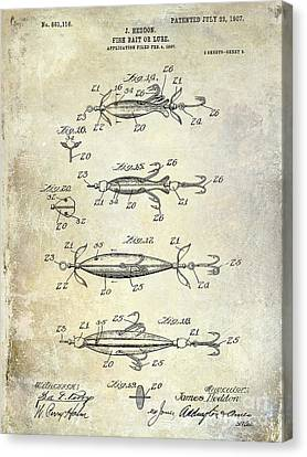 Net Canvas Print - 1907 Fishing Lure Patent by Jon Neidert