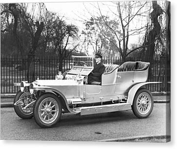 1907 Rolls-royce Silver Ghost Canvas Print by Underwood Archives