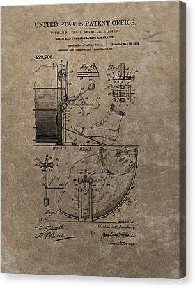 1909 Drum Patent Canvas Print