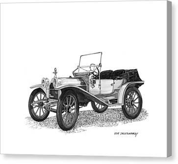 1909 Hupp Model 20 Roadster Canvas Print