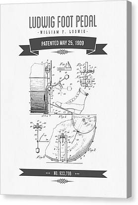 1909 Ludwig Foot Pedal Patent Drawing Canvas Print by Aged Pixel