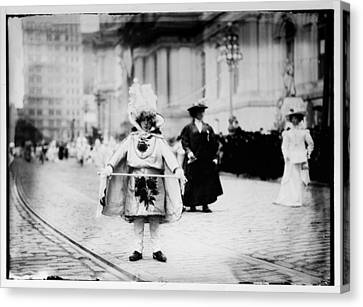 1909 Mummers Parade Canvas Print by Bill Cannon