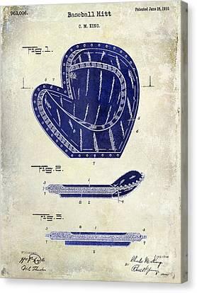 1910 Baseball Patent Drawing 2 Tone Canvas Print by Jon Neidert