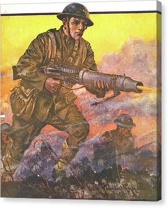 Copy Machine Canvas Print - 1910s 1918 Painting Titled The Man by Vintage Images
