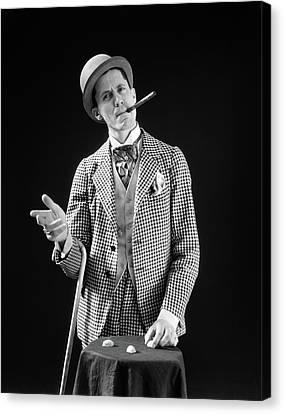 Cravat Canvas Print - 1910s 1920s Character Con Man Barker by Vintage Images