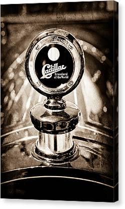 1911 Cadillac Roadster Hood Ornament - Moto Meter Canvas Print by Jill Reger