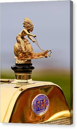 1911 Fiat Tipo 6 Holbrook 4 Passenger Demi-tonneau Hood Ornament Canvas Print by Jill Reger