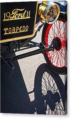 1911 Ford Model T Torpedo Grille Emblem Canvas Print by Jill Reger