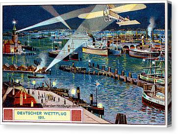 1911 German Air Race Canvas Print by Historic Image