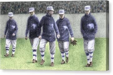 1911 Philadelphia Athletics Canvas Print by Steve Dininno