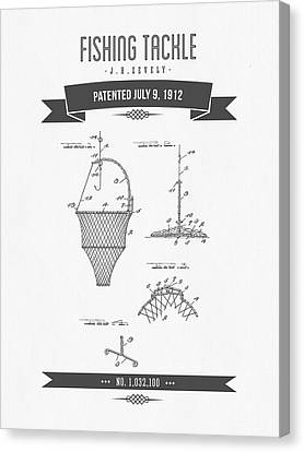 1912 Fishing Tackle Patent Drawing Canvas Print by Aged Pixel