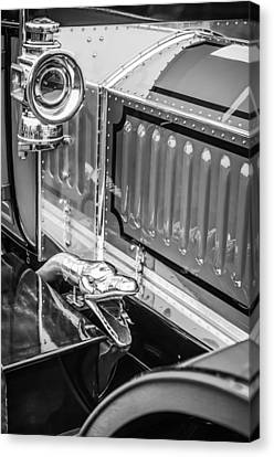 1912 Rolls-royce Silver Ghost Rothchild Et Fils Style Limousine Snake Horn -0711bw Canvas Print by Jill Reger
