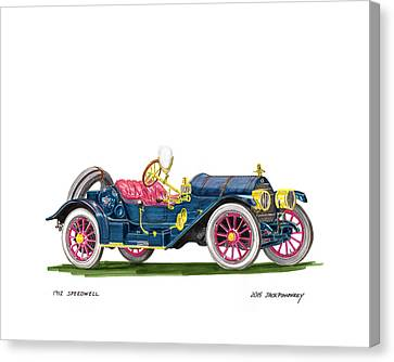 1912 Speedwell Speed Car Canvas Print by Jack Pumphrey
