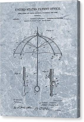1912 Umbrella Patent Canvas Print by Dan Sproul