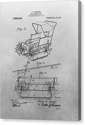 1914 Go Cart Patent Drawing Canvas Print by Dan Sproul