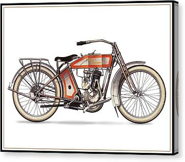 1914 Harley Davidson 35ci Model 10b Canvas Print by Maciek Froncisz