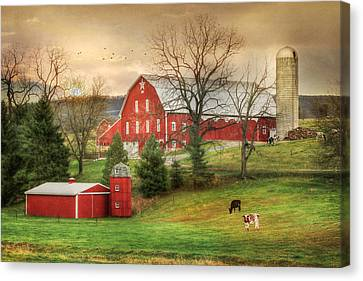 1914 Loysburg Farm Canvas Print
