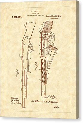 1914 Spring Gun Patent Art Canvas Print