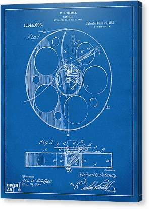 Theatre Canvas Print - 1915 Movie Film Reel Patent Blueprint by Nikki Marie Smith
