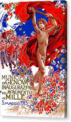 1915 Unified Italy Poster Canvas Print by Historic Image