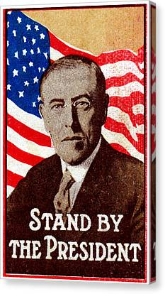 1916 Support President Wilson Canvas Print by Historic Image