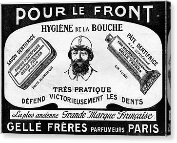 1916 Toothpaste Advert Canvas Print