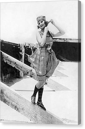 1917 Bathing Suit Fashion Canvas Print by Underwood Archives