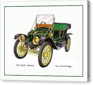 1917 Stanley Steamer Canvas Print by Jack Pumphrey